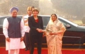 H.E. Mrs.Micheline Calmy-Rey, President of Swiss Confederation visit to India