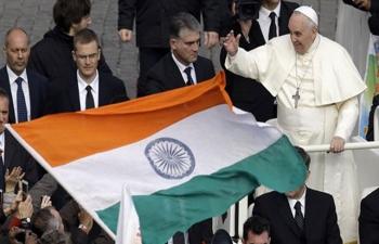 Pope canonises India's Father Kuriakose Elias Chavara and Sister Euphrasia in Vatican