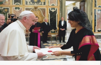 Presentation of Letters of Credence to His Holiness Pope Francis.