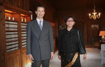 Presentation of Credentials to His Serene Highness Hereditary Prince Alois of Liechtenstein
