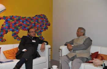 Finance Minister meeting Prof Muhammad Yunus, Nobel Laureate