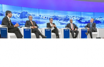Finance Minister Speaking at World Economic Forum Session on India and the World