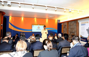Successful Investment Promotion under Make in India Scheme held with Andhra Pradesh Chief Minister, 19th January, 2016, Zurich