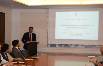 Indian Professionals Network: 'India Switzerland Cooperation in Vocational Training' , May 30, 2018