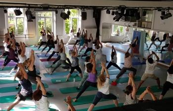 4th   International Day of Yoga Celebration in Neuchatel on June 16, 2018.