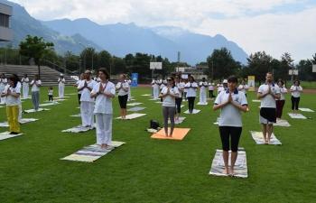 4th   International Day of Yoga Celebration in Vaduz on June 17, 2018