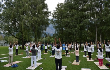 4th   International Day of Yoga Celebration in Bad Ragaz on June 17, 2018