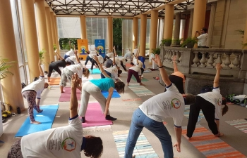 4th   International Day of Yoga Celebration in Museum Rietberg in Zurich on June 21, 2018