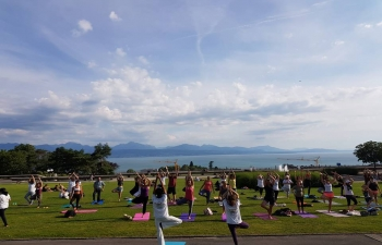 4th   International Day of Yoga Celebration in Lausanne on June 21, 2018