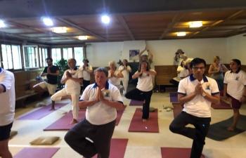 4th   International Day of Yoga Celebration in –Flaach, Winterthur on June 21, 2018