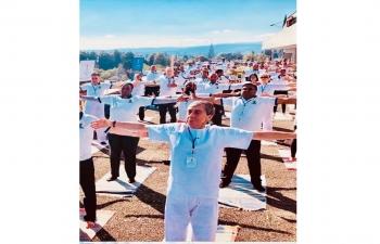 4th International Day of Yoga celebration at Berne on June 25, 2018