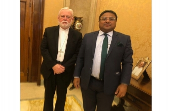 Ambassador met Secretary for Relations with States of the Holy See in Vatican (July 27, 2018)