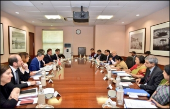 Bilateral Discussion during the visit of H.E. Dr. Ignazio Cassis to New Delhi on August 10, 2018