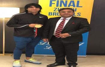 Ambassador met winner of the historic gold medal in Men's Javelin Throw at Asian Games 2018
