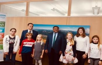 With aspiring diplomats in Lichtenstein