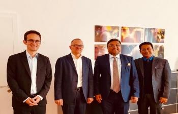 Ambassador meeting with Mayor of Aarau on October 26,2018  at Aarau