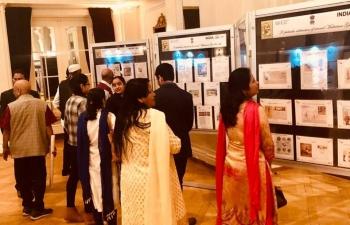Philately exhibition on Mahatma Gandhi in Bern on February 28th 2019