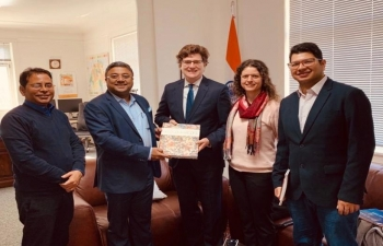 Ambassador's meeting with board member of Art of Living Foundation in Berne on March 12th 2019