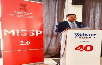 Ambassador at Webster University on April 10th in Geneva