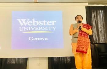 Yoga session at Geneva on April 10th 2019
