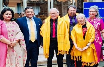 Felicitating Indian origin Member of Swiss Parliament Dr. Nik Grugger in  Berne on May 4th 2019