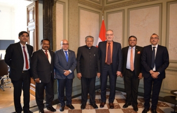 Hon'ble Chief Minister of Kerala's meeting with Federal Councillor for Economic Affairs, Education and Research (Economy Minister of Switzerland) at Federal Palace, Bern on  May 14, 2019