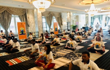 Yoga day celebrations in Berne on June 21st 2019