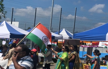 India Stall set up at the International School of Berne, in Berne on June 23 rd  2019