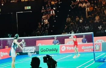 Wishing P V SINDHU all the best for the final BWF -World Badminton  Championship on 25.08.2019
