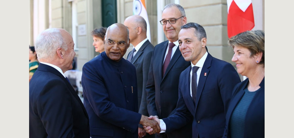 State Visit of Hon'ble President of India to Switzerland, September 11-15, 2019 : Ceremonial Welcome of the Hon'ble President at Munsterplatz on September 13, 2019