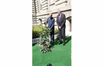 State Visit of Hon'ble President of India to Switzerland, September 11-15, 2019 : Photographs of the Plantation of Sapling by the Hon'ble President at University of Berne on September 12, 2019.
