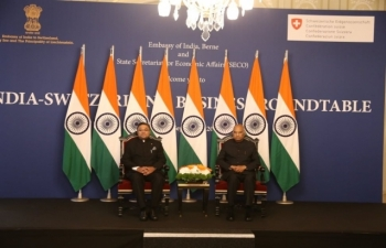 State Visit of Hon'ble President of India to Switzerland, September 11-15, 2019 : Photographs of Photo-op and Introduction of Indian Business Delegation with the Hon'ble President at Hotel Bellevue Palace, Berne on September 13, 2019