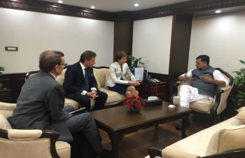Hon'ble Minister Shri. Raj Kumar Singh , met with HE Mme Simonetta Sommaruga, Vice President of the Federal Council of Switzerland , in New Delhi on Oct 21.