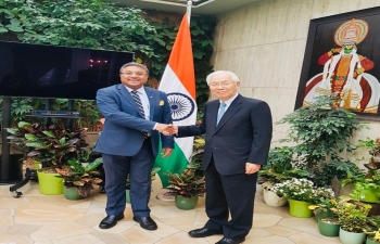 Amb Sibi George welcomed the new Japanese Ambassador to Switzerland HE Mr Kojiro Shiraishi at India House in Bern on Oct 25