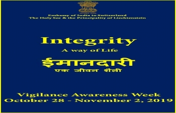 Integrity Pledge at Embassy of India in Berne on Oct 28