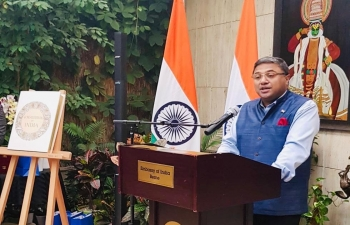 Glimpses of Constitution Day celebrations at India House, Bern on Nov 26 with participation of Ambassadors, Diplomats, Senior Officials of Govt of Switzerland & Friends of India. Launch of yearlong celebrations in Switzerland.