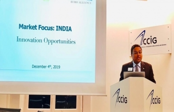 'Market Focus: India' event on Switzerland/India innovation opportunities in Medtech/Healthcare, Blockchain, Cybersecurity in Geneva(CCIG) on Dec 4, 2019.