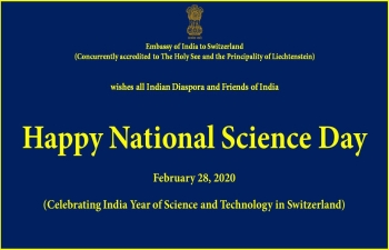 CELEBRATION OF 'NATIONAL SCIENCE DAY' IN SWITZERLAND