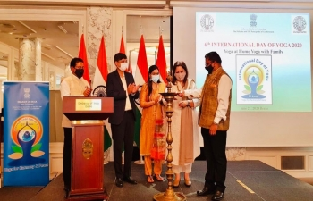 Celebration of 6th International Day of Yoga on June 21, 2020 by Embassy of India, Berne.
