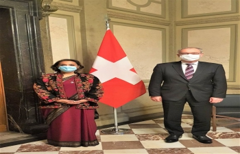 Ambassador Monika Kapil Mohta called on H.E. Guy Parmelin, President of the Swiss Confederation on 15 January, 2021, in Berne.
