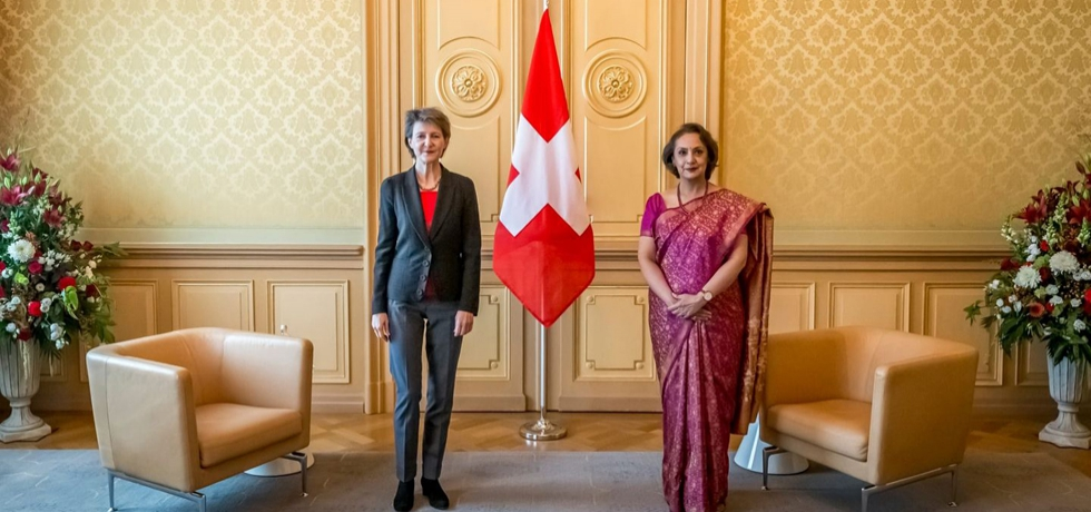 Ambassador of India Monika Kapil Mohta presented Credentials to President of Swiss Confederation H.E. Simonetta Sommaruga at Federal Palace in Berne on 13th Oct, 2020