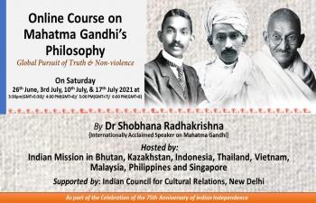 India@75: Online classes on Gandhian Philosophy in Switzerland by Smt. Shobhana Radhakrishna.