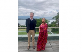 Ambassador Monika Kapil Mohta had a meeting with Mr. Borge Brende, President, World Economic Forum on 13 July, 2021