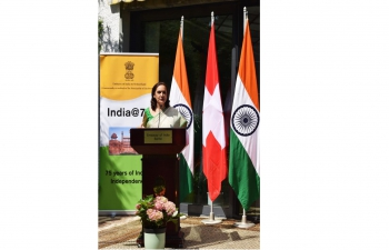Glimpses of Indian Independence Day Diplomatic Reception hosted at Bern by Ambassador Monika Kapil Mohta on 18 August, 2021.