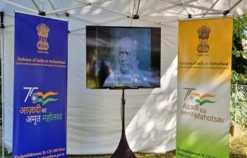 Screening of documentary on 'Sardar Vallabhai Patel' on 23 Sept 2021.