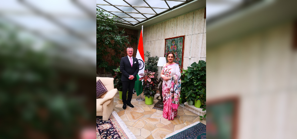 Ambassador Monika Kapil Mohta had a meeting with Dr. Johannes Beltz, Curator of South and Southeast Asian Art, Head of the Curatorial Board and Deputy Director of Museum Rietberg, Zurich