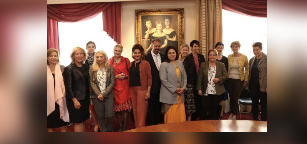 Minister of State for External Affairs and Culture Smt.Meenakashi Lekhi met respected women  parliamentarians and Secretaries of Switzerland in Berne
