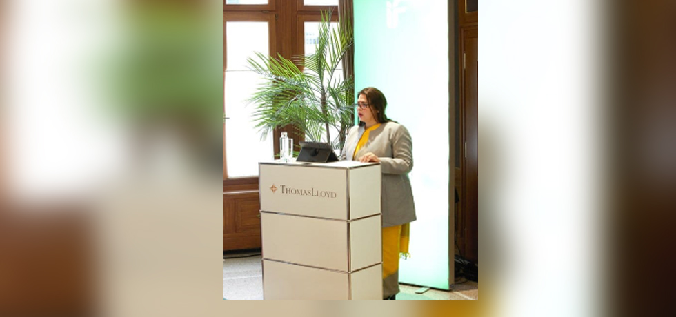 Minister of State for External Affairs and Culture Smt.Meenakashi Lekhi addressed the inaugural NZZ  Impact Finance Conference in Berne