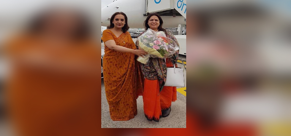Minister of State for External Affairs and Culture Smt.Meenakashi Lekhi arrives in Switzerland on her first visit