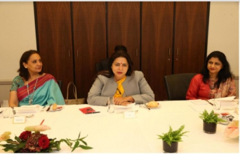 Minister of State for External Affairs and Culture Smt.Meenakashi Lekhi met respected women parliamentarians and Secretaries of Switzerland in Berne on 28 September, 2021